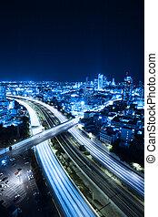 Tel Aviv skyline - Aerial View Of Tel Aviv At Night - Tel ...