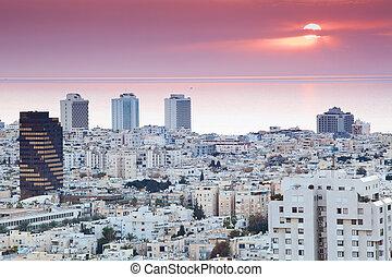 Tel aviv skyline - Tel aviv At sunset