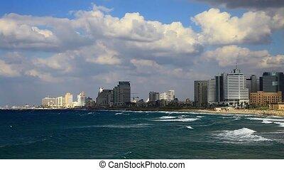 Tel Aviv  - Tel Aviv, Israel. Twilight.
