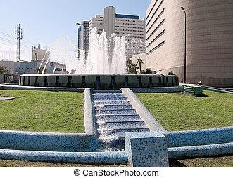 Tel Aviv Tomer Square fountain 2009