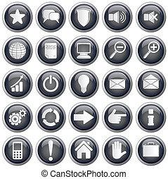 tela, útil, iconos
