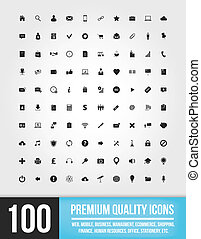 tela, 100, iconos