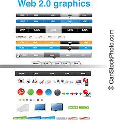 tela, 2.0, gráficos