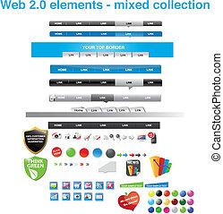 tela, 2.0-mixed, colección