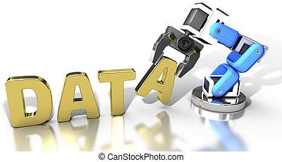 tela, almacenamiento, tecnología, robótico, datos