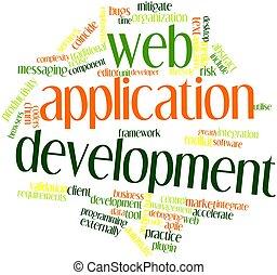 tela, aplicación, desarrollo