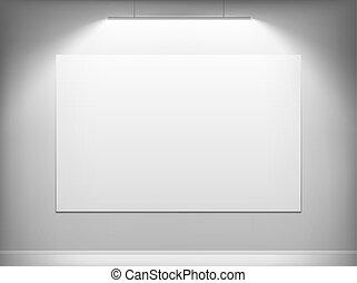 tela, appendere, bianco, wall.