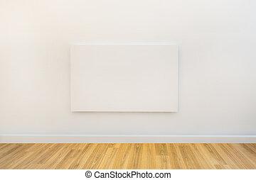 tela, arte, spazio, singolo, galleria, vuoto