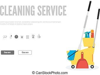 tela service regalo plano vector limpieza plantilla moderno