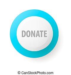 tela, botón, vector, donate., caridad