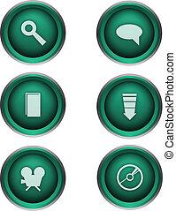 tela, botones