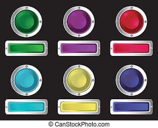 tela, buttons.