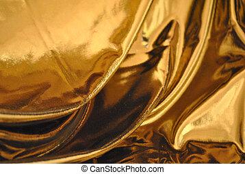 tela, cojo, oro, colgadura, fondo.