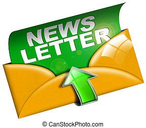 tela, concepto, newsletter