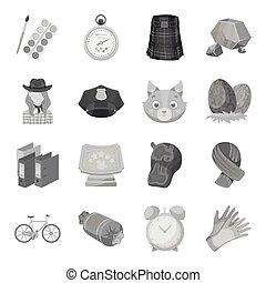 tela, Conjunto, animales,  taxi, iconos, Colección, educación,  rodeo, otro, Monocromo, embalaje, estilo, policía, icono