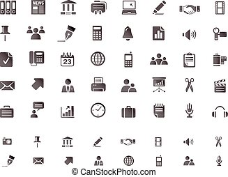 tela, conjunto, icono