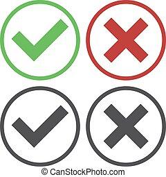 tela, conjunto, simple, cruz, marca, cuatro, verde, dos,...