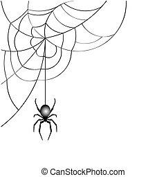 tela de araña, vector