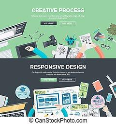 tela, diseño gráfico, conceptos