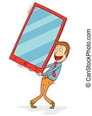 tela grande, smartphone