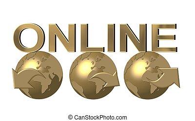 tela mundial, en línea