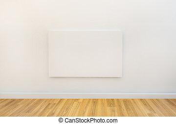 tela, parete, galleria, studio, vuoto, o