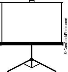 tela, projetor