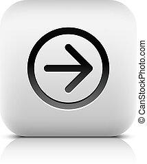 tela, señal, flecha negra, blanco, icono
