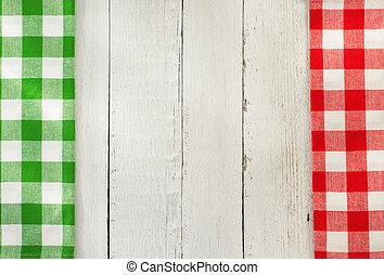 tela, servilleta, madera