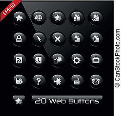 tela, software, iconos, promotores, y