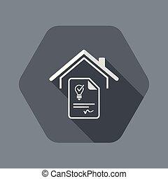 tela, suministro, electricidad, -, acuerdo, vector, icono