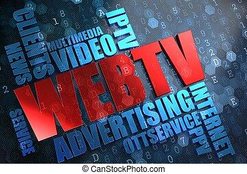 tela, tv., wordcloud, concept.