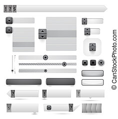 tela, vector, diseñe elementos