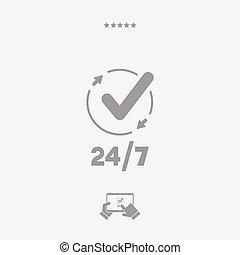 tela, verificar, constante, -, vector, servicios, icono
