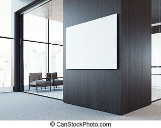 tela, wall., scuro, interpretazione, legno, bianco, vuoto, 3d