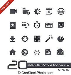 tela, y, móvil, icons-4, //, fundamentos