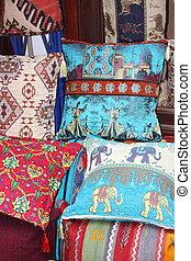 telas, colorido, turco