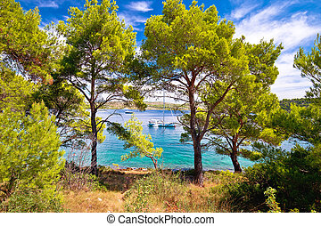 Telascica bay nature park yachting destination of Dugi otok island, Dalmatia, Croatia