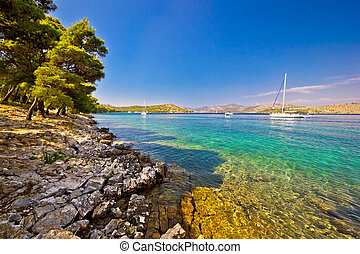 Telascica bay nature park sailing destination on Dugi Otok island, Dalmatia, Croatia
