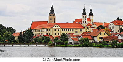 Telc in Moravia - The renaissance town of Telc in Moravia,...