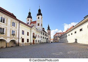 Telc - Summer view of Telc town. Czech republic