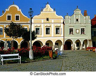 Telc - Main Square in Telc, Czech Republic