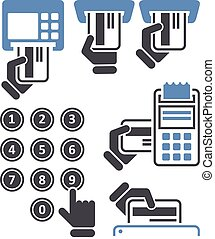 telclado numérico, atm, pos-terminal