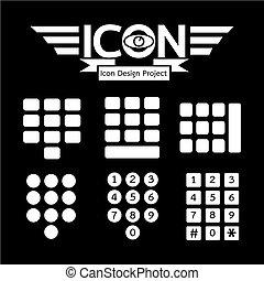 telclado numérico, icono