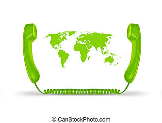 Telco concept - Global telecommunication concept
