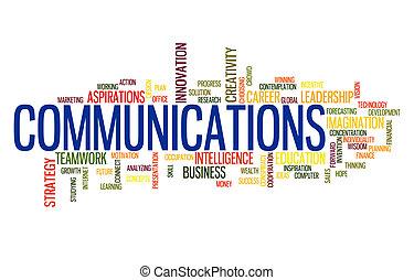 Communication business word cloud - Tele Communication...