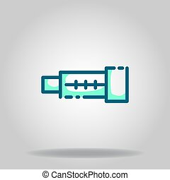 tele lens icon or logo in  twotone - Logo or symbol of tele ...
