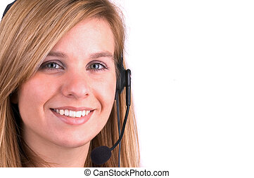 Tele Sales - Attractive Blond Call Centre Operator