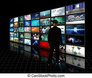 Tele Screens with viewer