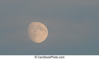 Tele shot of moon before the superm - Time lapse tele shot...